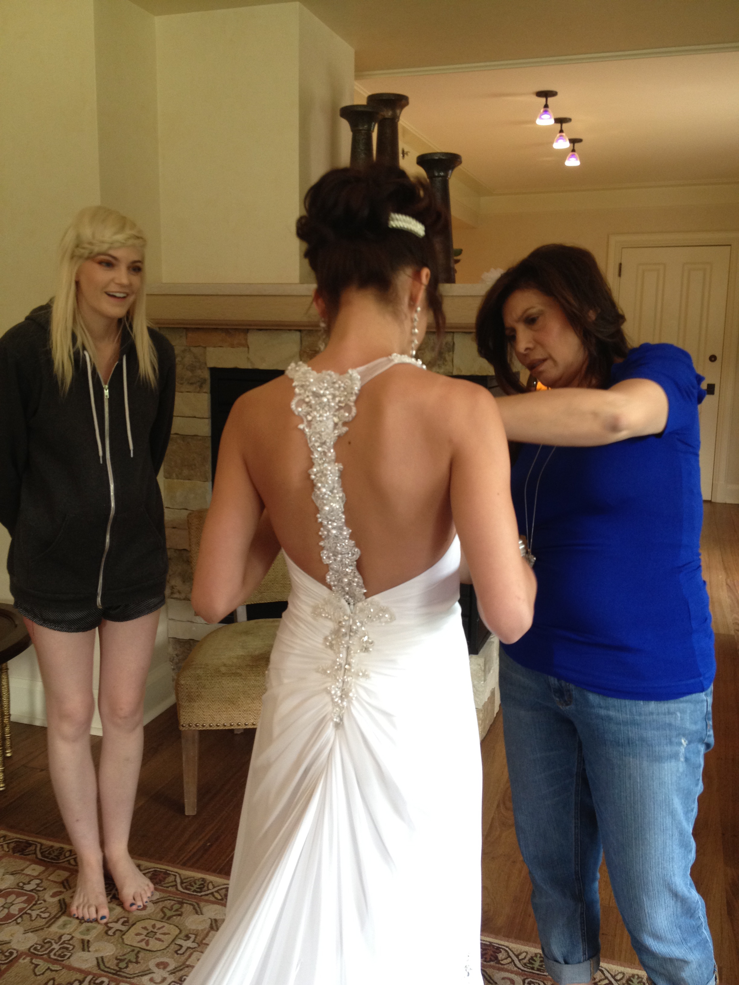 Christmas wedding dress mishaps -  Being A Stylist In New York And All Helping Kristina Get Ready We Even Had To Pull Off A Wedding Miracle With A Little Wedding Dress Mishap But