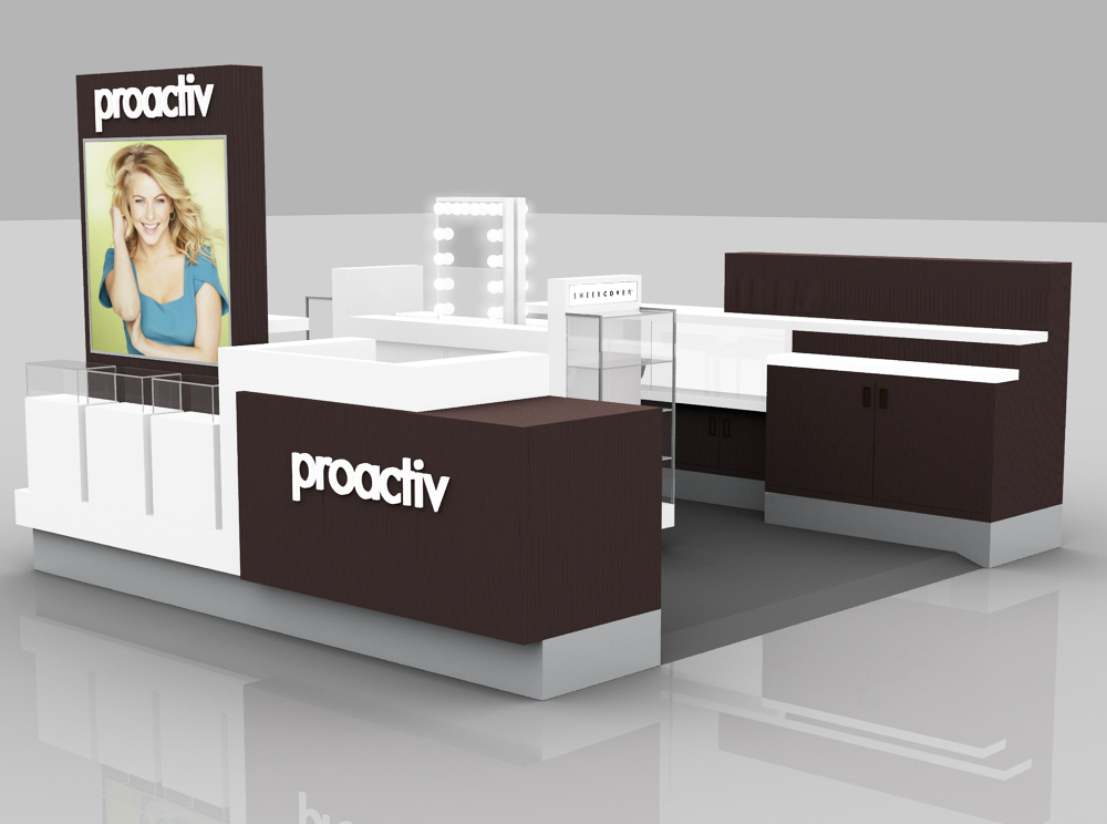 PROACTIV KIOSK STANDARD LAYOUT - MAKE-UP COUNTER