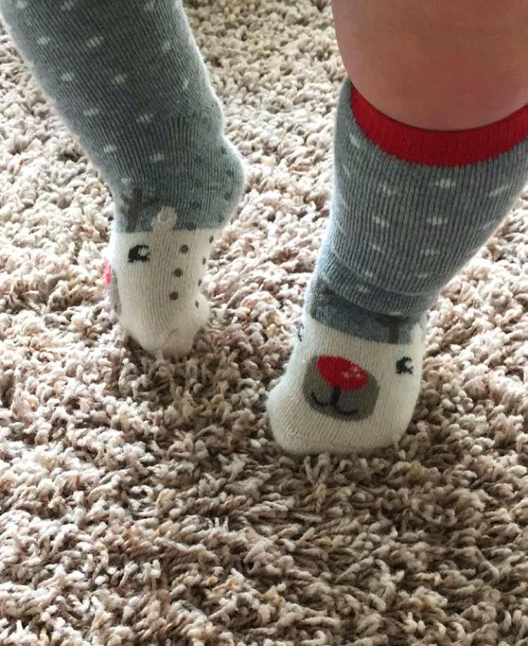 Sloan Knees reindeer socks