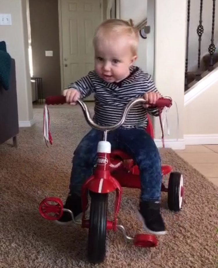 sloan on bike